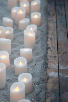 White candles set the scene