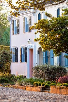 Houses on Cobblestone Street, Charleston, South Carolina  © Doug Hickok   Doug's Photo Blog