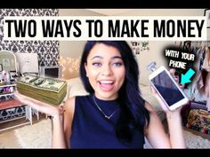2 WAYS TO MAKE MONEY WITH YOUR PHONE ! - WATCH VIDEO here -> http://makeextramoneyonline.org/2-ways-to-make-money-with-your-phone/ -    Today im going to show you guys how I make some extra cash and giftcards! ♡♡♡♡♡♡♡♡♡♡ -FREE MY APPS:  -Ibotta Code: Nessa  MEETUP INFO! TANGER OUTLETS IN FRONT OF H&M 2PM OCTOBER 31 Twitter @simplynessa15 Instagram @vanessagabrielam BUSINESS EMAIL for PRODUCT PROMOTION AND REVIEWS: simplyne...