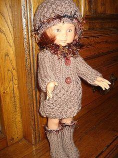 Fiche gratuite vêtements de poupées N°112: MANTEAU, BONNET ET BOTTES CHERIES DE COROLLE - Le blog de La malle ô trésor de Sylvie