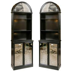Jansen-Attributed Glass Dome Cabinets - A Pair | Chairish