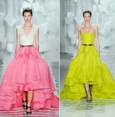 Jason Wu Spring 2012.  I'm betting on seeing the pink-skirted gown at the SAG Awards