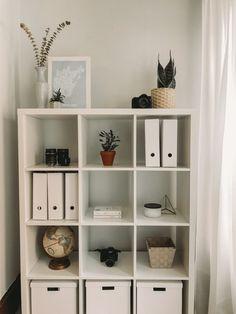 Ikea Shelving Unit, Office Shelving, Home Office Storage, Ikea Storage, Home Office Decor, Home Decor Bedroom, Ikea Bedroom Design, Bedroom Furniture Inspiration, Room Inspiration