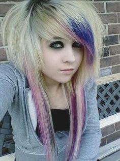 Consider, that crazy blonde emo teen