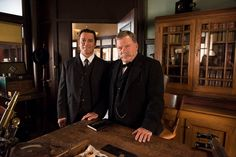 BTS - Yannick and the AWESOME Billy Shatner on set of Marked Twain -- Photos by Christos Kalohoridis; Copyright: Shaftesbury