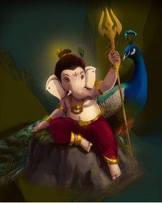 Shri Ganesh Images, Hanuman Images, Ganesha Pictures, Radha Krishna Images, Ganesha Drawing, Ganesha Painting, Ganesha Art, Lord Ganesha, Ganpati Bappa Wallpapers