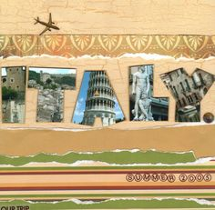 amish title pages for scrapbooking | Title page for an Italy vacation scrapbook… #vacationscrapbook