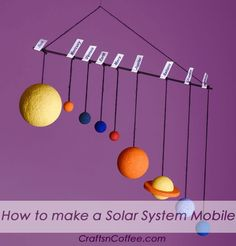 Solar System Projects Tutorials for making a Solar System model are always popular on Crafts 'n Coffee. I think it's a universal school project, and at some point, almost everyone makes a model of the Solar System. I al…Tutorials for making a Solar System Solar System Projects For Kids, Solar System Activities, Solar System Crafts, Space Activities, Space Projects, Science Projects, School Projects, Project Projects, Solar System Model Project