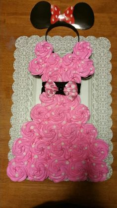 Pink minnie mouse cupcake dress.