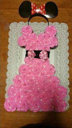 Pink minnie mouse cupcake dress.