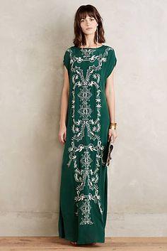 Emboridered Mara Maxi Dress- woven viscose