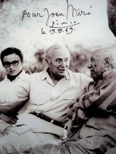 Joan Miró, (Catalonia) and Pablo Picasso (Spain), circa 1969.