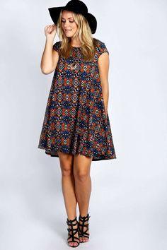 Edie Cap Sleeve Swing Dress alternative image