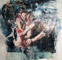 Enthauptung des Holofernes, a Oil on  by Ulrike Bolenz from Belgium. It portrays: Nude, relevant to: judith, expressionism, figures, holofernes, oil .