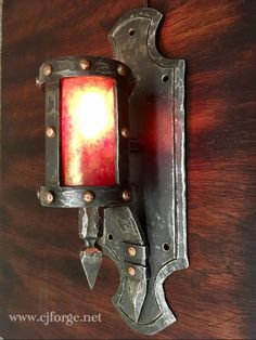 Handmade Wall Sconce. -CJ Forge   #handmade #castlelighting
