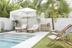 Shop Online Collection Of Furniture, Prints & Decor Backyard Pool Landscaping, Backyard Pool Designs, Swimming Pool Designs, Swimming Pools Backyard, Outdoor Spaces, Outdoor Living, Outdoor Decor, Outdoor Pool Areas, Small Pool Design