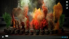 Watch These Spices Explode In Slow Motion with Music