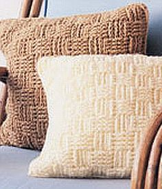 crochet pattern - basketweave pillow