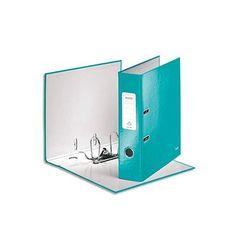 Classeur à levier 180°, gamme WOW de Leitz. Carton pelliculé, dos de 8 cm.