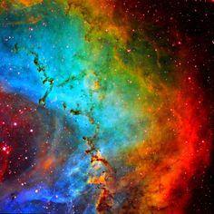 Dust sculptures in the Rosette Nebula.