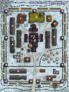 Akuvskaya Prison Camp - map