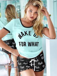 Ruffle Sleep Short - PINK - Victoria's Secret