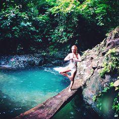 Enjoy the quiet moments.  #boho #disfunkshionmag #costarica #waterfall #swimwear #adventure #travel