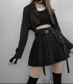 Egirl Fashion, Kpop Fashion Outfits, Tomboy Fashion, Edgy Outfits, Korean Outfits, Kawaii Fashion, Cute Casual Outfits, Cute Fashion, Pretty Outfits