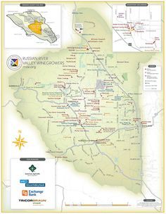 Russian River Vineyards, Sonoma County, CA - Wine Map