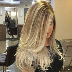 Chic Long Layered Haircuts for Blonde picture 1 Balayage Hair, Ombre Hair, Long Hair Cuts, Long Hair Styles, Long Layer Hair, Long Layered Haircuts, Great Hair, Gorgeous Hair, Hair Looks