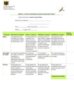 rubrica evaluacion flauta - Cerca amb Google