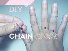 DIY Chain Rings ❖ Anelli Fashion Fai da Te ~ TUTORIAL - YouTube