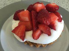 Jordbærtærte med digestive-kiksebund