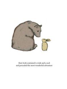 PreviousNext Bear And Rabbit Bunny Tattoos, Rabbit Tattoos, Rabbit Illustration, Illustration Art, Animal Illustrations, Bear Drawing, Bunny And Bear, Honey Bunny, Bear Art