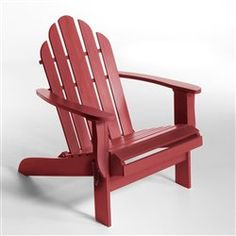 Fauteuil Théodore, style Adirondack