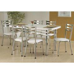 mesas para cozinha com seis cadeiras