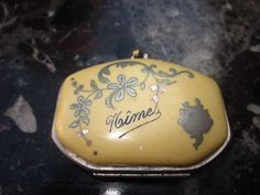 Antique French Bakerlite with Silver Inlay Souvenir Coin Purse - Nimes