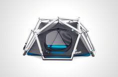 膨らませるだけでジオデシックドームが。HEIMPLANETの空気注入式テント