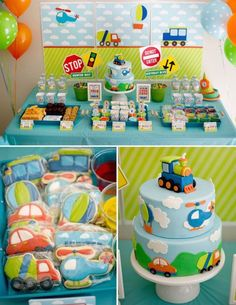 Boys Transportation Themed Birthday Party 1st Parties 2nd Ideas