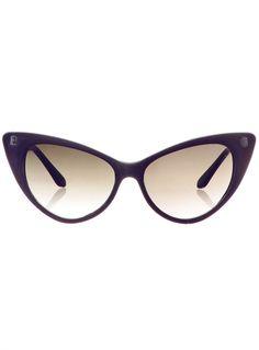 Cateye Sunglasses in Black Grape | PLASTICLAND