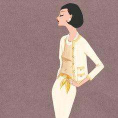 Classic 1960's Chanel. Jordi Labanda illustration