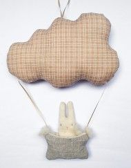 MyCuddle™ - Bunny Traveller - Organic Baby's Room Decor - Handmade in Italy with love