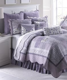 Another great find on #zulily! Lavender Rose Quilt Set by Donna Sharp #zulilyfinds