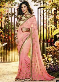 Sofia Hayat Georgette Designer Bollywood Saree#bollywood http://www.angelnx.com/Sarees/Bollywood-Sarees