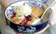 Blueberry Peach Cobbler Recipe from temp-tations(R) | temp-tations® by Tara