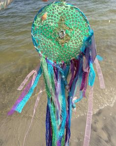 Large paradise mermaid decor large dream catcher by bellaluv987