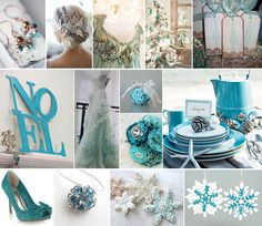 turquoise winter wedding inspiration  so it is a possibility now that our wedding might be in the winter. need to talk pros and cons.