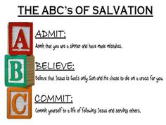 picture regarding Abc's of Salvation Printable identified as ABC OF SALVATION