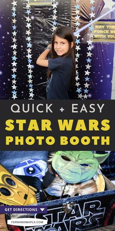 Set up a fun and easy photobooth for a Star Wars themed party - perfect for May the Fourth, kid's birthdays, or movie watching parties! Get details now at fernandmaple.com.