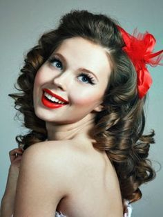 1950s hairstyles long hair - Google Search